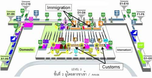 Bangkok airport arrivals level