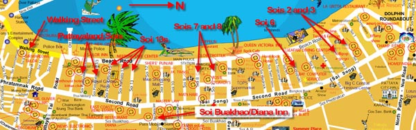 Pattaya bar map, click for larger image