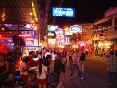 Pattaya bar area Walking Street